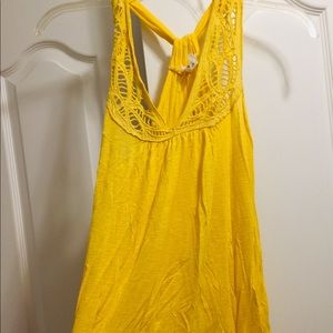 Yellow tank top never worn nwot